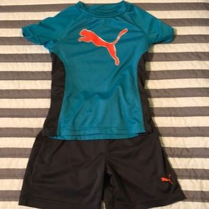 Puma boys short sleeved shorts outfit 2T